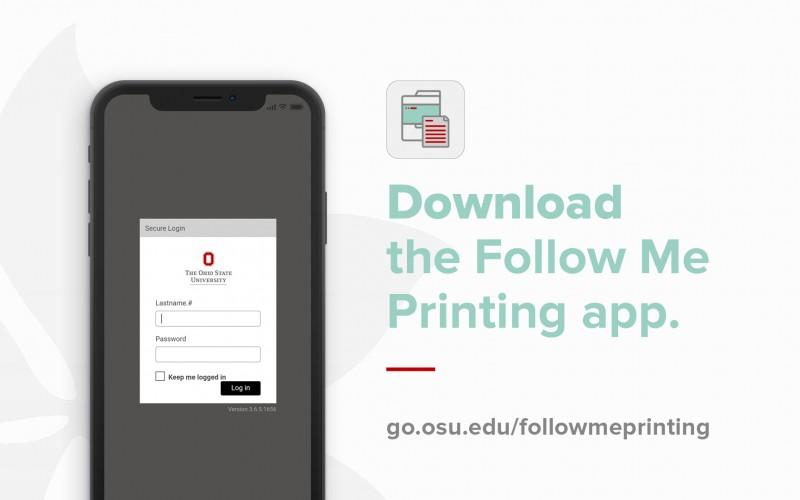 Follow Me Printing Text