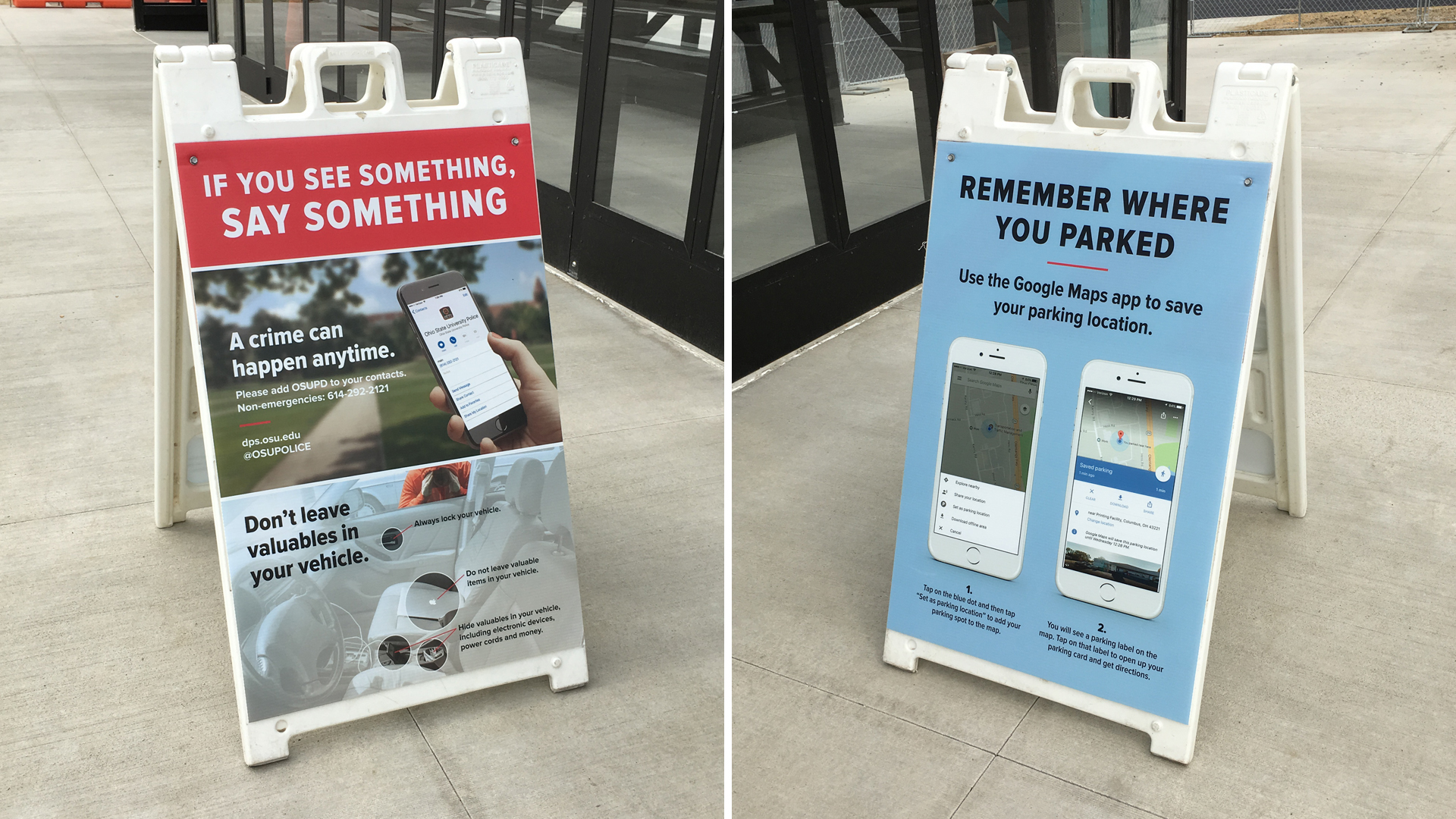 A-Frame Signage, Department of Public Safety, 24x36 inches | UniPrint